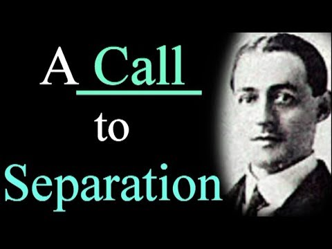 A Call to Separation - A. W. Pink / Christian Audio Books