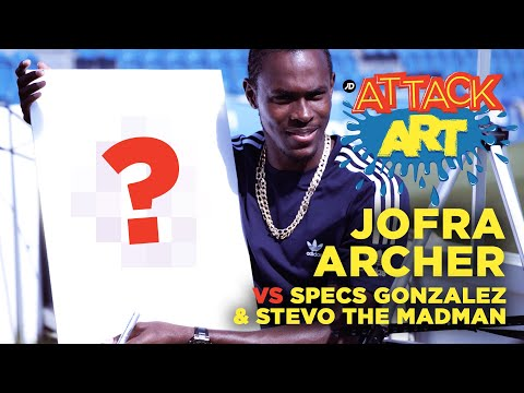"jdsports.co.uk & JD Sports Voucher Code video: ""Jofra Archer Draws His Favourite Australian"" | Attack Art with Specs Gonzalez & Stevo The Madman"