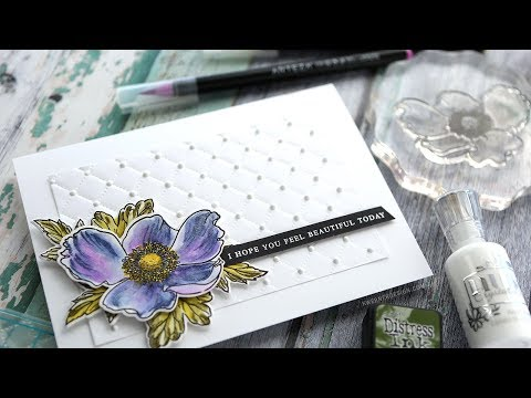 Watercoloring with Builder Stamp Sets