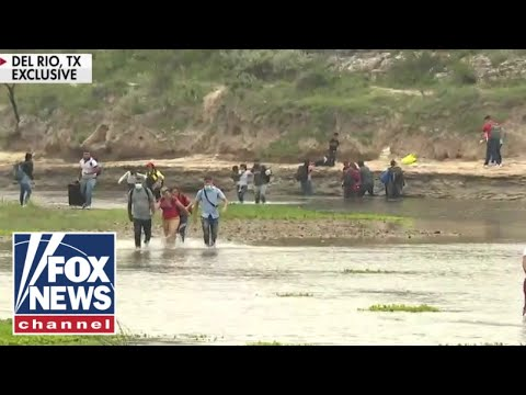 Exclusive video shows 'stunning' surge of illegal crossings; 'The Five' react