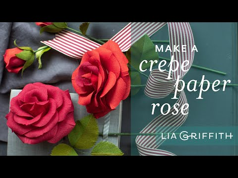 Easy Paper Rose with Crepe Paper