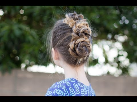 Triple Bun Updo Homecoming Hairstyles Easy Diy Hairstyle Cute
