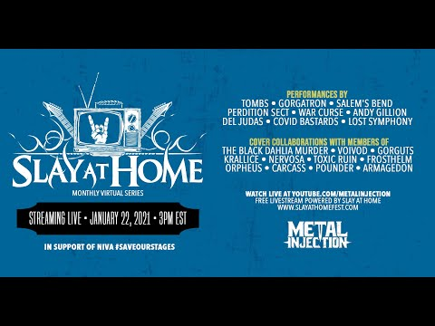 SLAY AT HOME Monthly (January) Live Stream | Metal Injection