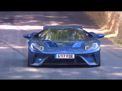 The Ford GT driven by Harry Tincknell at Goodwood FOS 2018
