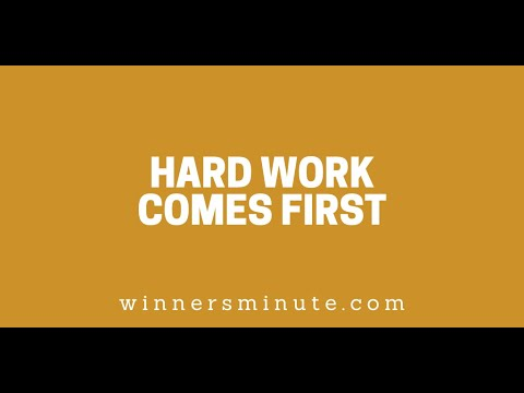 Hard Work Comes First // The Winner's Minute With Mac Hammond