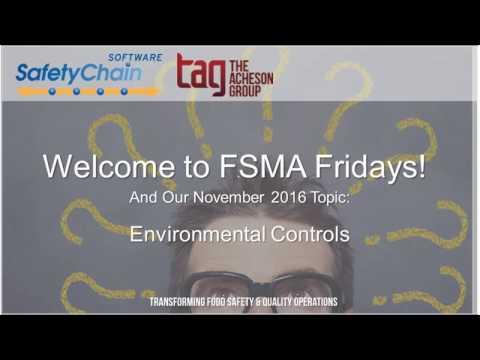 FSMA Fridays November 2016 - Environmental Controls