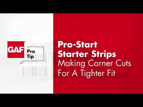GAF ProTip - How To Fit Starter Strip Corners