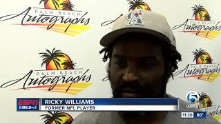 Ricky Williams meet and greet at Palm Beach Autographs