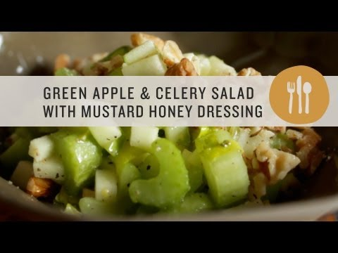Green Apple and Celery Salad with Mustard Honey Dressing - Superfoods