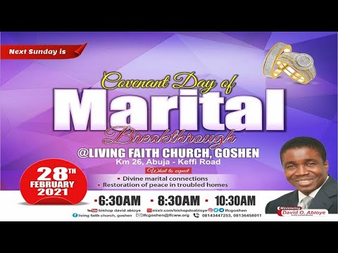 ENGAGING THE POWER OF FAITH FOR FULFILMENT OF PROPHECY PT. 4B  2ND SERVICE  FEBRUARY 28, 2021
