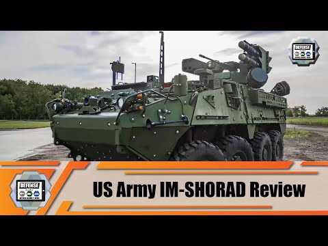 IM-SHORAD mobile air defense system on Stryker A1 armored vehicle General Dynamics for US Army