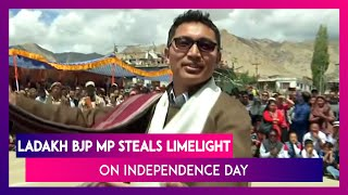 Ladakh BJP MP Jamyang Namgyal Steals Limelight On 73rd Independence Day, Performs Traditional Dance