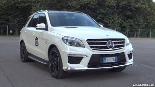 Mercedes ML63 AMG V8 Bi-Turbo with Capristo Valvetronic Exhaust LOUD Sounds!