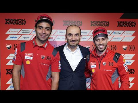 Watch the Ducati Team presentation from Palazzo Re Enzo, Bologna
