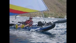Sailing the Sea Eagle Explorer 380X inflatable kayak - YouTube