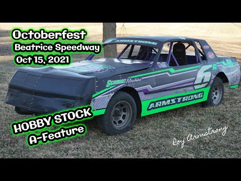 10/15/2021 Beatrice Speedway Octoberfest Hobby Stock A-Feature - dirt track racing video image