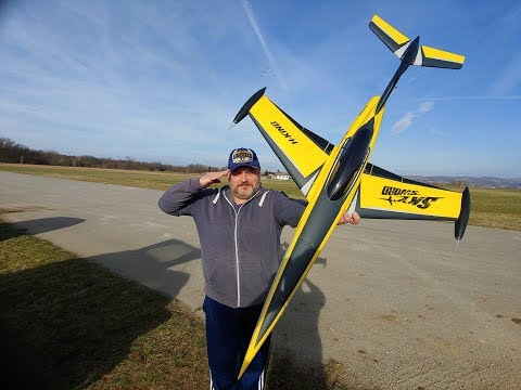 "H-King SkySword 70mm 6S EDF Jet 990mm (40"") Yellow (PNF) Maiden flight - UC3RiLWyCkZnZs-190h_ovyA"