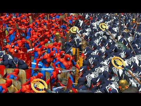 1000 SPIDERMAN VS 1000 VENOM | MASSIVE SUPERHEROES BATTLE - UCpu1gAx-pc_MXmErmZfjyvQ