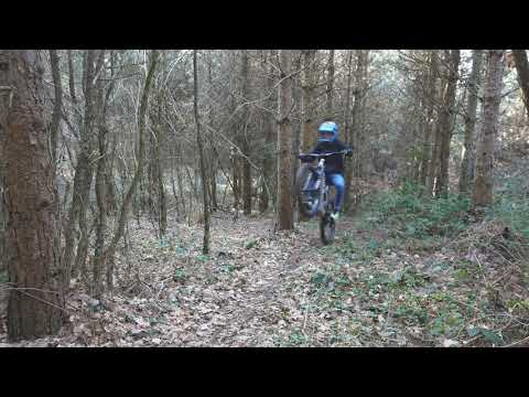Demonstration of LMX 64 trail riding with no pedalling