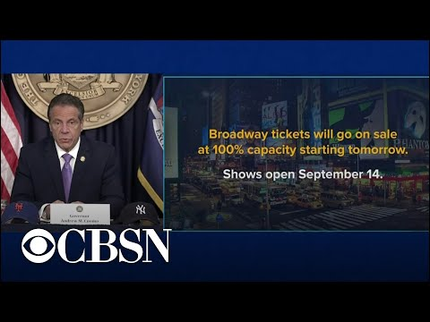 Cuomo announces plans for Broadway reopening, eases more COVID restrictions