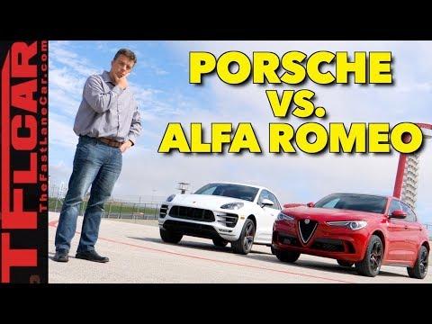 Which Is Faster? Alfa Romeo Stelvio Quadrifoglio vs Porsche Macan Turbo
