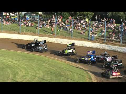 A Big Field of Stockcars to support the NZ Modified Championship Meeting - dirt track racing video image