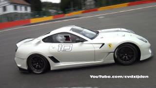 Ferrari 599XX in Action! Very Loud Sound!