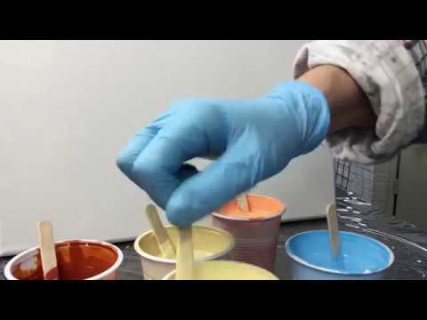 ( 681 ) Showing paint thickness acrylic pouring
