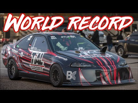 AWD Honda Civic World Record - 1300AWHP 70psi of Boost!