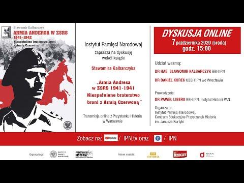 Dyskusja o książce Sławomira Kalbarczyka, Armia Andersa w ZSRS 1941–1942... [ZAPOWIEDŹ]