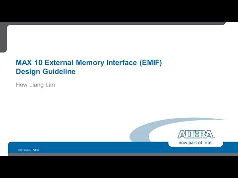 MAX10 External Memory Interface Design Guidelines