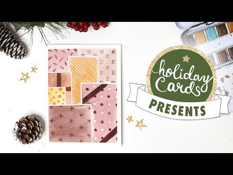 Pretty Presents Easy Watercolor Card Tutorial | 2018 Holiday Card Series