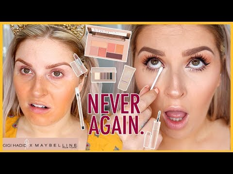 GIGI HADID MAYBELLINE COLLECTION ?? First Impressions... WTF