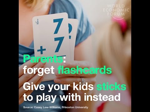 Parents: forget flashcards - Give your kids sticks to play with instead