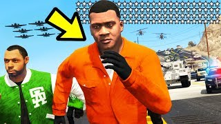 GTA 5 - 100 STAR WANTED LEVEL vs. Grove Street!!