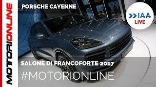 Porsche Cayenne 2018 | LIVE al Salone di Francoforte 2017