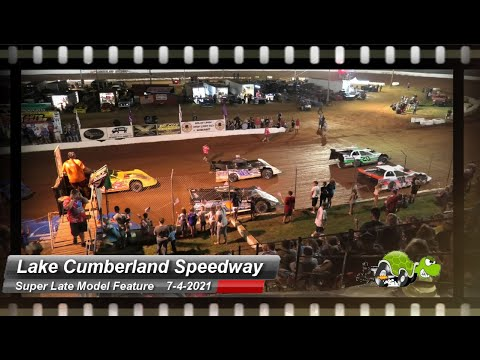 Lake Cumberland Speedway - Super Late Model feature - 7/4/2021 - dirt track racing video image