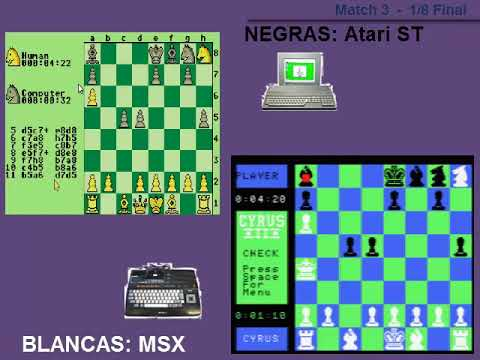 AJEDREZ - | MSX vs Atari ST | - 1/8 Final. Mach 3