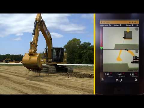 Förarinstruktioner, Cat 320 Next Generation: Grade med 3D