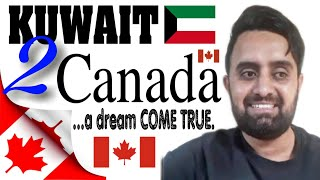 KUWAIT  TO  CANADA : HE REACH CANADA AS A LONG HAUL TRUCKER.