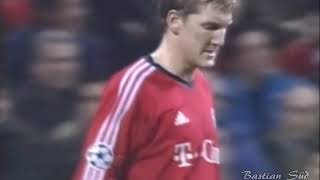 Bastian Schweinsteiger(19 years old) vs Real Madrid in the 2003-2004 Champions League