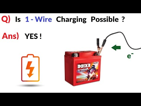 Can you Charge a Battery with just ONE WIRE ? - 220V to 12V