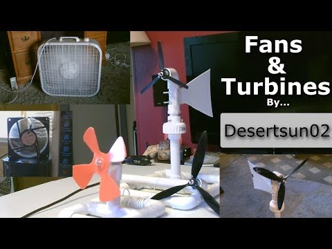 Fans and Turbines! - Homemade fans | Solar powered fans |  Mini Wind-Turbines (Compilation)