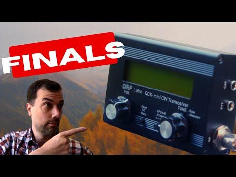 How to build a QCX Mini - Part 4 - Electrolytics, Trimmers, Finals