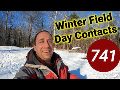 Ham Radio Winter Field Day Contacts #SHORTS