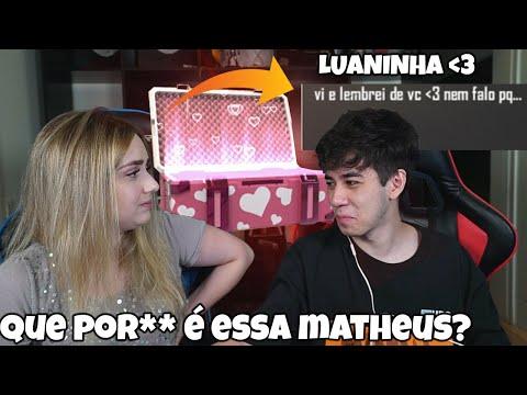 RECEBI PRESENTE DA MINHA EX NO FREE FIRE NO MEIO DESSE VIDEO E MINHA NAMORADA FICOU LOUCA!
