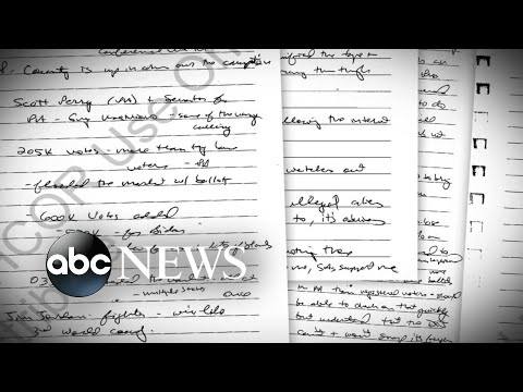 Newly released handwritten notes show Trump pressured DOJ on election