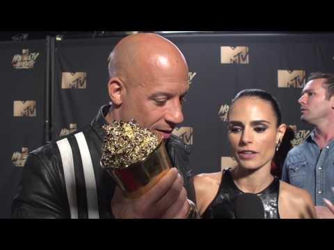 Vin Diesel and Jordana Brewster at 2017 MTV Movie & TV Awards