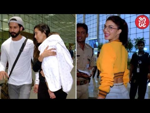 Shahid Leaves For His Vacation With Misha & Mira | Karan, Malaika, Jacqueline Spotted At The Airport