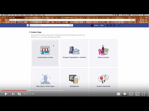 SETTING UP A FACEBOOK BUSINESS PAGE - PART 2: Create a page, Fill About section